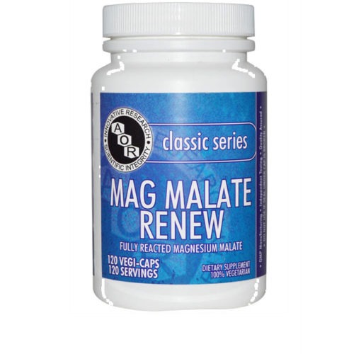 Bottle of AOR Mag Malate