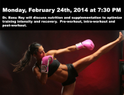 Event poster. Kickboxing woman