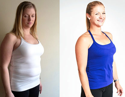 Before and after the fat loss program
